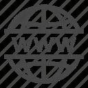 globe, site, www icon