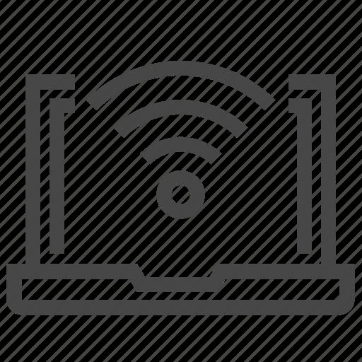 computer, monitor, wifi icon