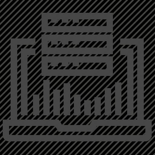 analysis, graph, hosting, statistic, web icon