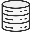 data, database, network, server, storage, technology icon