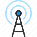 network, signal, technology, tower, wave, wifi icon