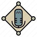 communication, device, microphone, network, radio, technology icon