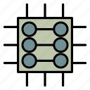 chip, data, network, processor, server icon