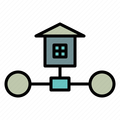 connection, home, network, sharing icon
