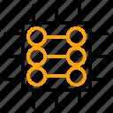 chip, data, network, processor, server icon