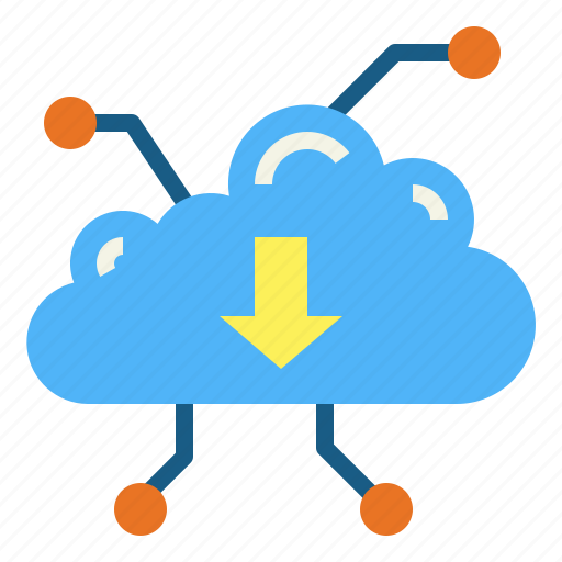 cloud, direction, multimedia, network icon