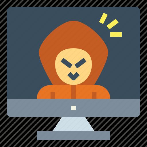 Computer, crime, criminal, cyber, hacker icon - Download on Iconfinder