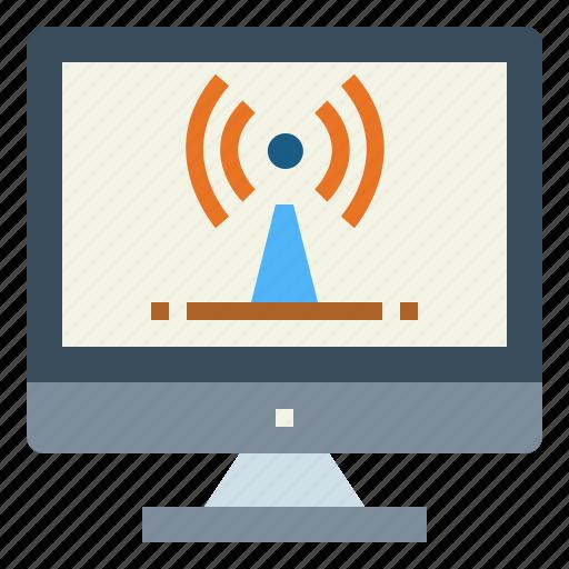 Computer, internet, wifi, wireless icon - Download on Iconfinder