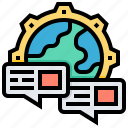 communication, data, global, message, system icon