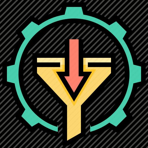 data, filtering, process, screening, system icon