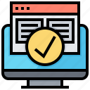 certify, online, page, quality, website icon