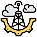 antenna, cloud, connection, internet, wireless icon