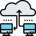cloud, computer, network, sharing, database