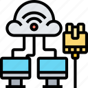 network, connection, lan, cable, cloud icon