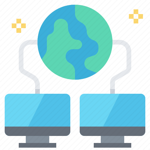 computer, connection, global, lan, network icon