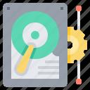 computer, data, information, record, storage icon