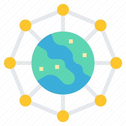 connection, global, network, technology, worldwide icon