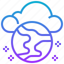 cloud, data, global, networking, storage icon