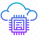 chip, circuitry, cloud, cpu, processor icon