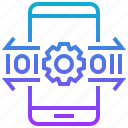 application, coding, smartphone, system, technology icon