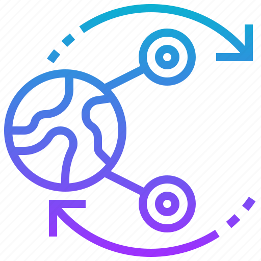 data, global, information, sharing, transfer icon