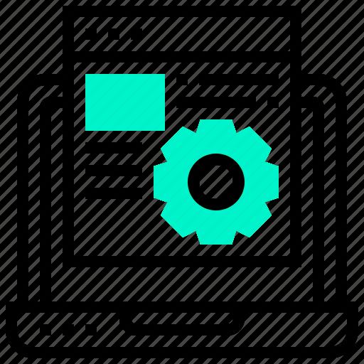 data, optimisation, process, schema, search icon