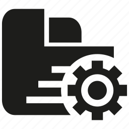 backup, cogwheel, file, gear, setting icon