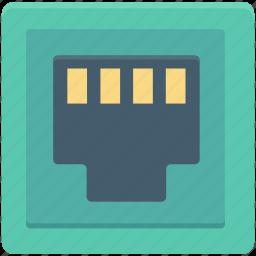internet outlet, internet plug, internet socket, lan port, telephone plug icon