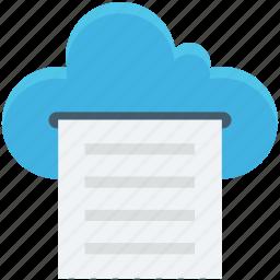 cloud storage, digital storage, file storage, online docs, sky docs icon