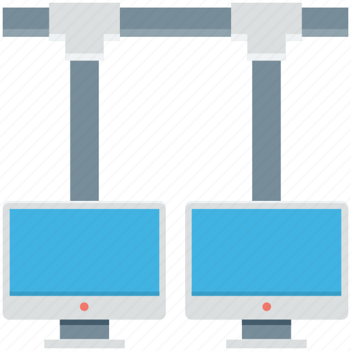 client server, internet sharing, monitor, network, shared network icon