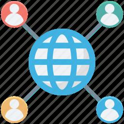 developer, global management, global service, globe, user icon