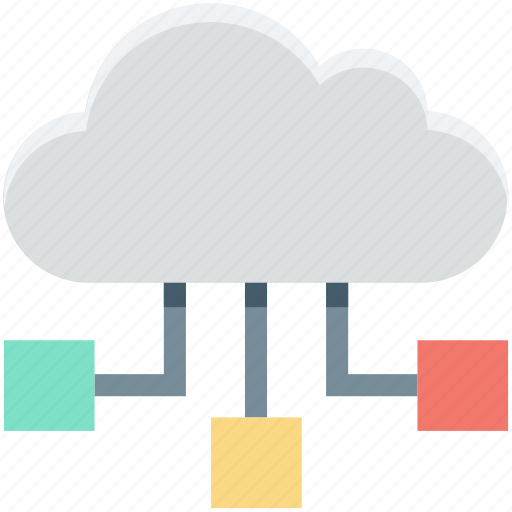 cloud hierarchy, cloud network, cloud sharing, networking, technology icon