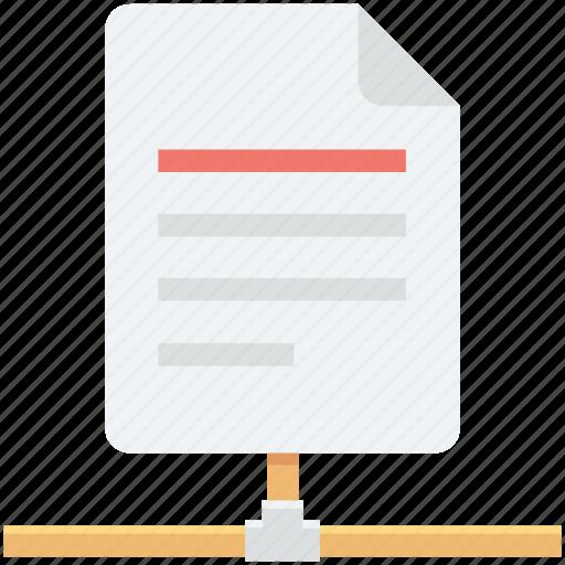 data share, database, document, server, server document icon