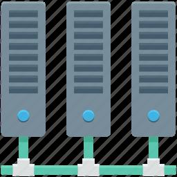database, mainframe, networking, server, server rack icon
