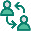 communication, connection, humans, internet, sharing, team, users icon