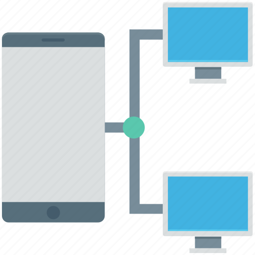 mobile network, mobile sharing network, networking, phone connected, technology icon