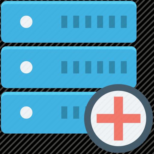 add server, database, network server, server connection, web hosting icon