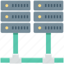 database, mainframe, networking, server, server rack icon