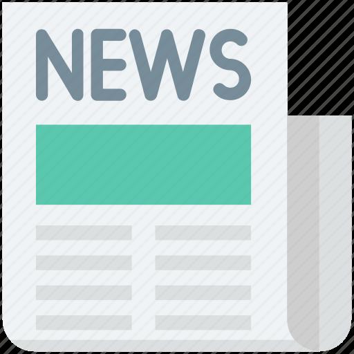 article, folded newspaper, media, news, newspaper icon