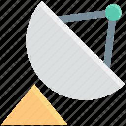 communication, dish antenna, radar dish, satellite dish, space, wireless icon