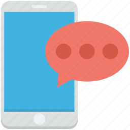chat bubble, message, mobile, mobile chatting, mobile massage icon