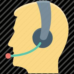 call center agent, customer representative, customer service, customer support, male icon