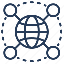 connection, global, link, network, social icon