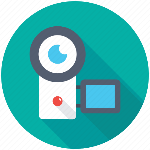 Video camera, camera, camcorder, handycam, video recording icon