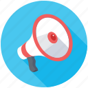 loudspeaker, announcement, megaphone, advertisement, social media