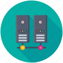 databank, database, network hosting, networking, server network icon