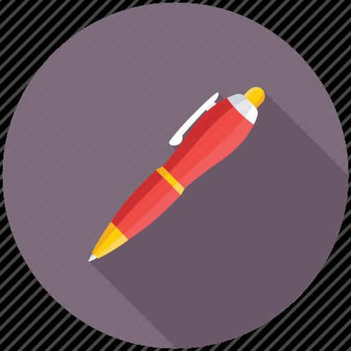ballpen, ballpoint, pen, stationery, writing icon