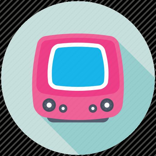 idiot box, retro tv, television, tv monitor, tv set icon
