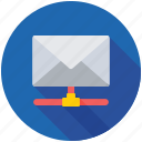 email client, email hosting, email reader, email server, email sharing icon