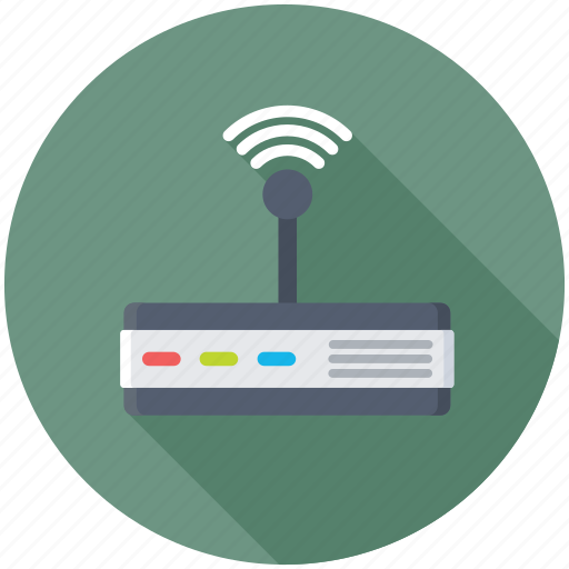 broadband, wifi modem, wifi router, wifi signals, wireless internet icon